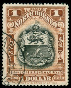 MOMEN: NORTH BORNEO SG #291 1925-8 USED LOT #60131