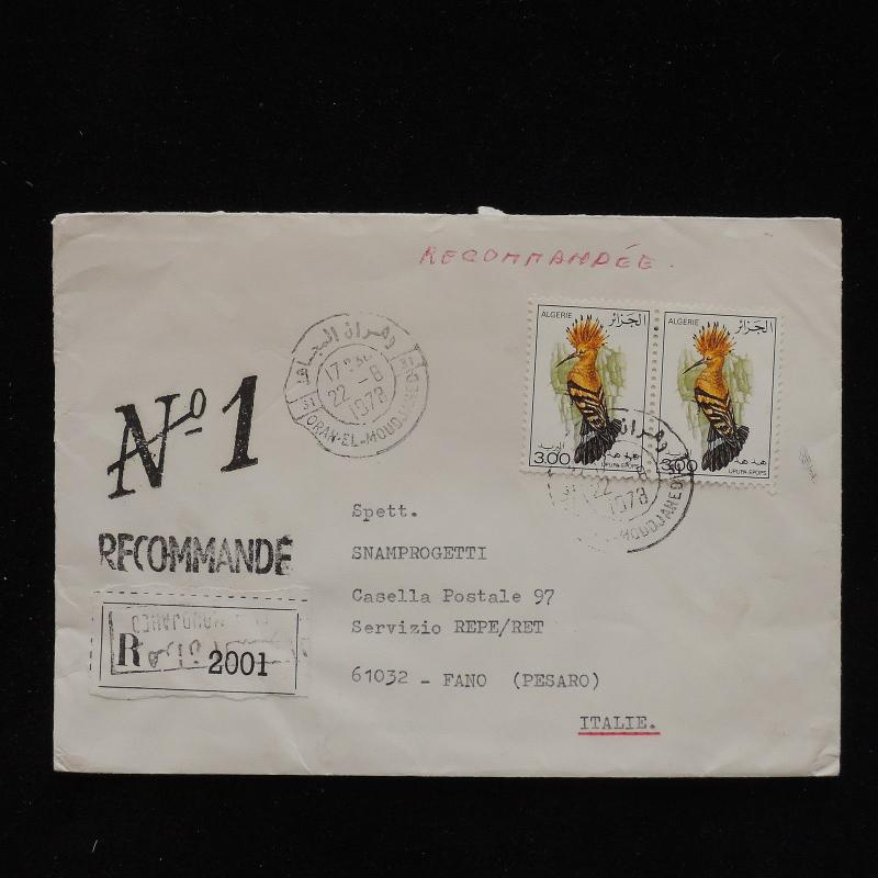 ZS-AC642 ALGERIA IND - Birds, 1978 From Oran El Moudjamed To Fano Italy Cover