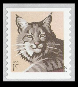 US 4672 Bobcat 1c single (1 self adhesive stamp from coil) MNH 2012