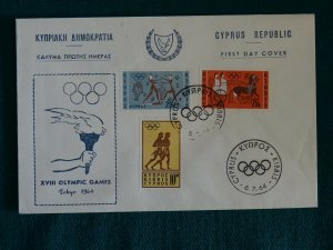 Cyprus 1964 Olympic Games Tokyo Unofficial FDC. (B)