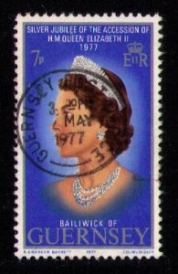Guernsey Sc 145 Used QE II 25th ANNIVERSARY Stamp VF