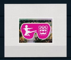 [55722] Burkina Faso 1975 Olympic games Figure skating MNH Sheet