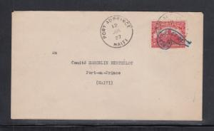 Haiti Cover Port au Prince Local Use 1927 with Berthelot Committee Cancel 1927
