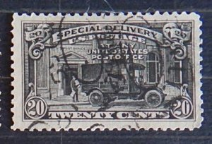 USA, 1925, New Value and Post Office Truck, SC #E14