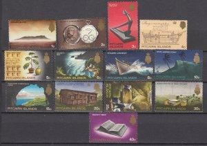 J26816 1969 pitcairn island set mh #99-109 designs