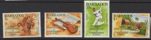 BARBADOS SG1053/6 1995 300th ANNIV OF COMBERMERE SCHOOL MNH