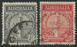 Australia Scott #150-151 Used Stamps