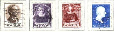 Norway Sc 562-5 1970 Zoologist stamps used