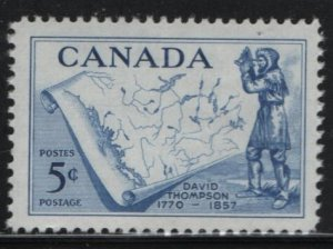 CANADA, 370, MNH, 1957, David Thompson and Map of Western Canada