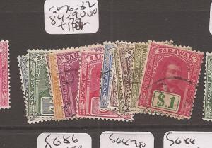Sarawak SG 76-82, 84-90 VFU (1cev)