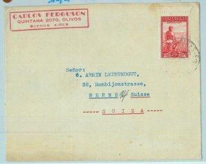 96748  - ARGENTINA - POSTAL HISTORY -  COVER to SWITZERLAND  1948   nice
