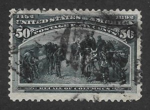 Doyle's_Stamps: Nice Used 50-cent Columbian Scott #240 of 1893