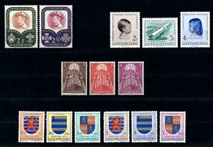 Luxembourg Luxemburg 1957 Complete Year Set MNH