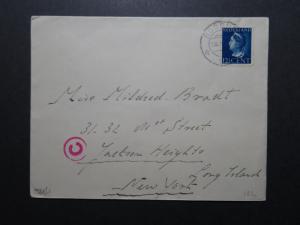 Netherlands 1941 Censor Cover to USA (X) - Z10731