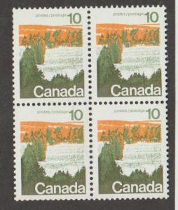 Canada Scott #594 Type 1 Stamp - Mint NH Block of 4