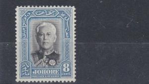 MALAYSIA  JAHORE  1940  S G 130  8C  BLACK & BLUE  MH
