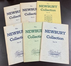 Robert A. Siegel Auctions of the Newbury Collection 1961-63 Part I - VI