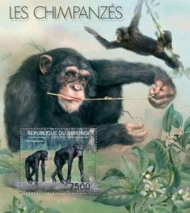 Burundi MNH S/S Chimpanzees 2012