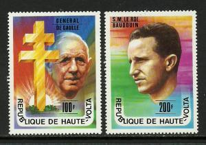 Burkina Faso #434-5 MNH Set - Famous Men