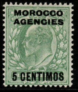 MOROCCO AGENCIES SG112 1907 5c on ½d PALE YELLOW-GREEN MTD MINT