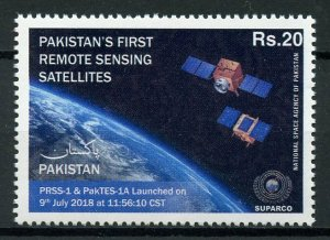 Pakistan 2019 MNH First Remote Sensing Satellites 1v Set Technology Space Stamps