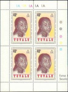 Tuvalu #125-128, Complete Set(4), Blocks of 4, 1979, Never Hinged