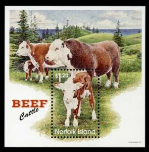 Norfolk Island 616 MNH Beef Cattle