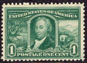 US Stamp Scott #323 Mint NH SCV $60. DEEP color.