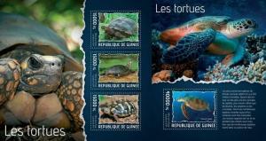 Guinea 2014 turtles reptile4s nice klb+s/s MNH