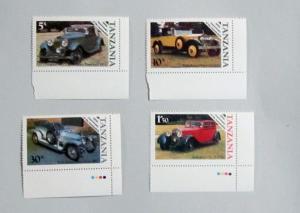 Tanzania - 263-66, MNH Set. Classic Autos. SCV - $1.45