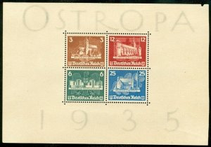 EDW1949SELL : GERMANY 1935 Scott #B68 Mint No Gum. Fresh sheet. Catalog $825.00.