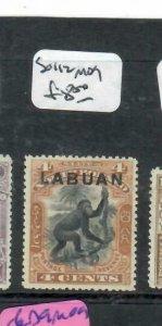 LABUAN (P1811B) ON NORTH BORNEO  4C MONKEY   SG 112    MOG