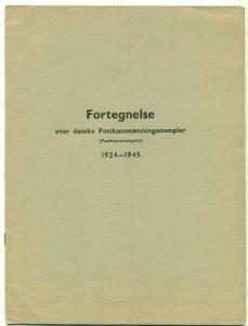 DANISH POSTHORN CANCELS 1924-25 , soft covered pamphlet