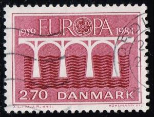Denmark #755 Europa; Used (0.25)