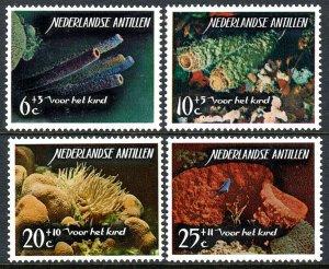 Netherlands Antilles B68-B71, MNH. Corals. Blue & Green cup sponges, 1965