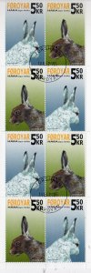 Faroe Islands Sc 455a 2005 Rabbit stamp booklet pane in booklet used