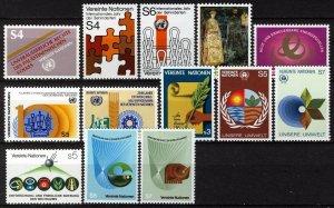 UN Vienna 1981-82, Complete run two years VF MNH, Mi 16-28