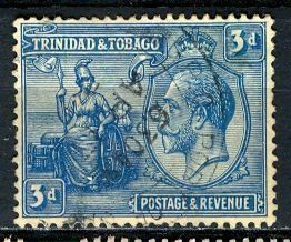 Trinidad & Tobago; 1922; Sc. # 25; O/Used Single Stamp
