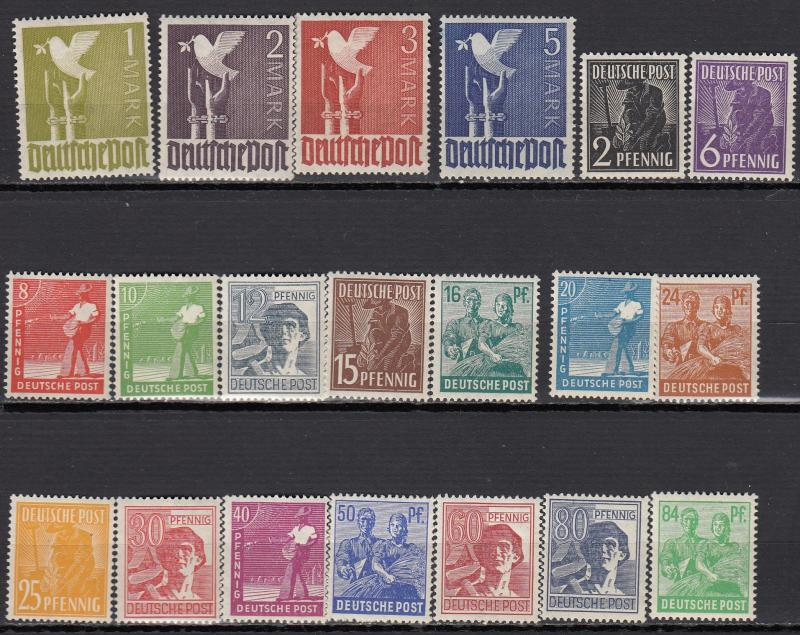 Germany - 1947/1948 ABZ Professions complete set Sc# 557/577 - MNH (1270)