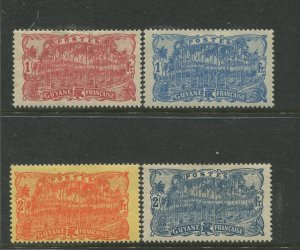STAMP STATION PERTH Guyana #78,79,82,83 Definitive Issue 1905 MH