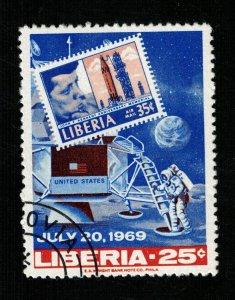 Space 1969 Liberia 25c  (TS-577)
