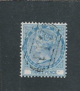 TOBAGO 1879 3d BLUE FU SG 2 CAT £85
