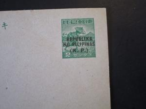 Philippines Japanese Postal Card Ovpt. Rep NG Pilipinas (KP) / Unused - Z4849
