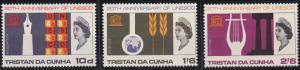 Tristan da Cunha 101-103 MNH (1966)