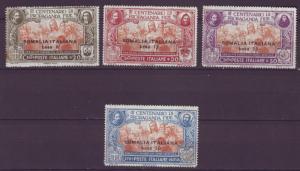 J18308 JLstamps 1923 italy somalia set mlh #51-4 ovpt,s 2 scans, toned gum