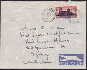 NEW CALEDONIA 1949 airmail cover to Australia - 5f single franking.........68818