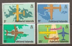 FALKLAND ISLANDS SG360/3 1979 STANLEY AIRPORT MNH