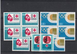 Yugoslavia 1974 Mint Never Hinged Olympics + Red Cross Stamps Ref 30635
