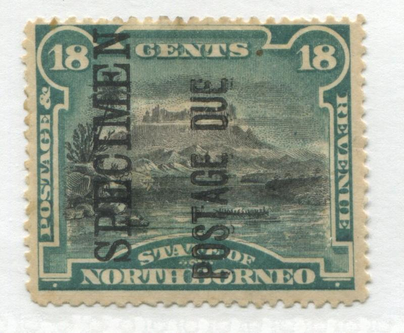 North Borneo 1895 18 cents overprinted Postage Due SPECIMEN