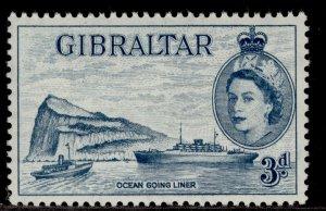 GIBRALTAR QEII SG150b, 3d greenish blue, NH MINT. Cat £27.